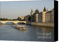 Worth Canvas Prints - River Seine and Conciergerie. Paris Canvas Print by Bernard Jaubert