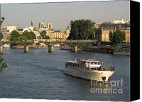 Goth Canvas Prints - River Seine in Paris Canvas Print by Bernard Jaubert