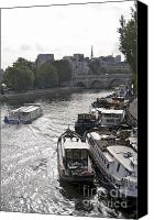 Ile De France Canvas Prints - River Seine. Paris Canvas Print by Bernard Jaubert