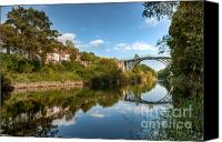 Riverside Canvas Prints - River Severn Canvas Print by Adrian Evans
