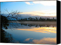 Don L Williams Canvas Prints - River Sunrise Canvas Print by Don L Williams