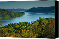 Indiana Autumn Canvas Prints - River View II Canvas Print by Steven Ainsworth