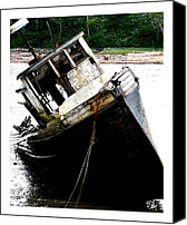 Dan Daulby Canvas Prints - River Wreck Canvas Print by Dan Daulby