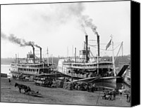 River Transportation Canvas Prints - Riverboats On The Mississippi River Canvas Print by Everett