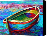 Rowboat Canvas Prints - Riviera Boat I Canvas Print by Marion Rose