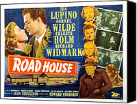 Holm Canvas Prints - Road House, Ida Lupino, Richard Canvas Print by Everett
