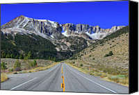 Road Travel Canvas Prints - Road Marking On Road Canvas Print by David Toussaint - Photographersnature.com
