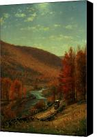 Turning Painting Canvas Prints - Road Through Belvedere Canvas Print by Thomas Worthington