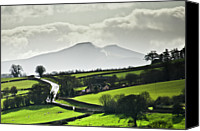 Wales Canvas Prints - Road To Brecon Beacons Canvas Print by Ginny Battson