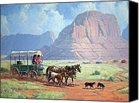 Foal Painting Canvas Prints - Road To Kayenta Canvas Print by Randy Follis