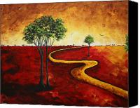 Road Painting Canvas Prints - Road to Nowhere 2 by MADART Canvas Print by Megan Duncanson