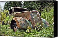 Antique Automobiles Photo Canvas Prints - Roadside Panhandler Canvas Print by Wayne Stadler