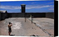Barbed Wire Fence Canvas Prints - Robben Island Prison Canvas Print by Aidan Moran
