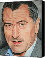 Robert Deniro Canvas Prints - Robert DeNiro Canvas Print by Timothe Winstead