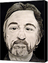 Robert Deniro Canvas Prints - Robert DeNiro Canvas Print by Victoria Dietz