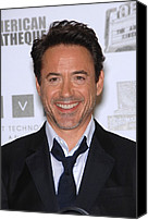 Awards Canvas Prints - Robert Downey Jr. In Attendance Canvas Print by Everett