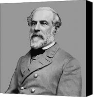 American Canvas Prints - Robert E Lee Confederate Hero Canvas Print by War Is Hell Store