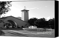 Country Photographs Canvas Prints - Robert Mondavi Napa Valley Winery . Black and White . 7D9029 Canvas Print by Wingsdomain Art and Photography