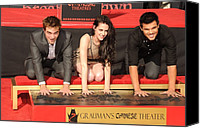 At A Public Appearance Canvas Prints - Robert Pattinson, Kristen Stewart Canvas Print by Everett