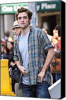 Half-length Canvas Prints - Robert Pattinson On Location For Robert Canvas Print by Everett