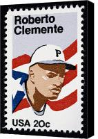 Clemente Photo Canvas Prints - Roberto Clemente Canvas Print by Granger