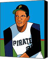 Clemente Digital Art Canvas Prints - Roberto Canvas Print by Ron Magnes