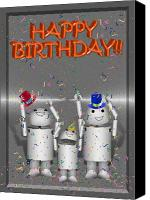 Gx9 Canvas Prints - Robo-x9 Birthday Wishes Canvas Print by Gravityx Designs