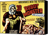 1953 Movies Canvas Prints - Robot Monster, 1953 Canvas Print by Everett