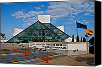 Cleveland Stadium Canvas Prints - Rock and Roll Hall of Fame Canvas Print by Robert Harmon