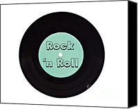 Musical Imagery Canvas Prints - Rock and Roll Canvas Print by viZualstudio