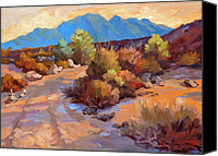 Country Scenes Painting Canvas Prints - Rock Cairn at La Quinta Cove Canvas Print by Diane McClary