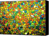 Contemporary Art Special Promotions - Rock Candy Canvas Print by Carolyn Repka