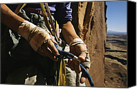 Etc. Canvas Prints - Rock Climber Becky Halls Wrapped Hands Canvas Print by Bill Hatcher