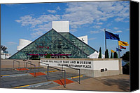 Amp Canvas Prints - Rock Hall Of Fame Canvas Print by Robert Harmon