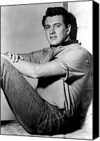 1950s Portraits Canvas Prints - Rock Hudson, C. Mid 1950s Canvas Print by Everett
