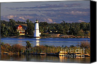 St Lawrence River Canvas Prints - Rock Island Lighthouse - FS000128 Canvas Print by Daniel Dempster