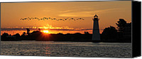 St Lawrence River Canvas Prints - Rock Island Lighthouse Canvas Print by Lori Deiter