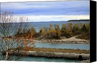 Hovind Canvas Prints - Rock Port in Alpena Michigan Canvas Print by Scott Hovind