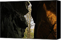 Wv Canvas Prints - Rock Window Canvas Print by Melissa Petrey