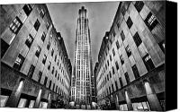 Nyc Photo Canvas Prints - Rockefeller Centre Canvas Print by John Farnan