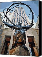Heart Plaza Canvas Prints - Rockefeller Plaza Color 16 Canvas Print by Scott Kelley