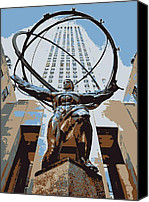 Heart Plaza Canvas Prints - Rockefeller Plaza Color 6 Canvas Print by Scott Kelley