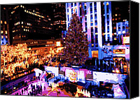 Heart Plaza Canvas Prints - Rockefeller Tree Color 16 Canvas Print by Scott Kelley