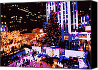 Heart Plaza Canvas Prints - Rockefeller Tree Color 6 Canvas Print by Scott Kelley