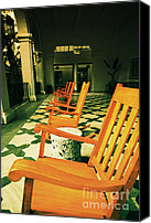 Rocking Chairs Photo Canvas Prints - Rockers Canvas Print by Cheryl Young