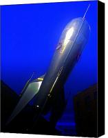 Rocketship Canvas Prints - Rocket To Jupiter Canvas Print by Randall Weidner