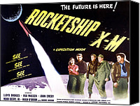 1950s Poster Art Canvas Prints - Rocketship X-m, Far Left Osa Massen Canvas Print by Everett