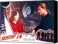 1950 Movies Canvas Prints - Rocketship X-m, Osa Massen & Lloyd Canvas Print by Everett