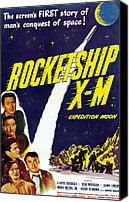 1950 Movies Canvas Prints - Rocketship X-m, Top Lloyd Bridges Canvas Print by Everett