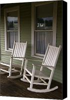 Rocking Chair Canvas Prints - Rocking Chairs On The Porch Canvas Print by Todd Gipstein